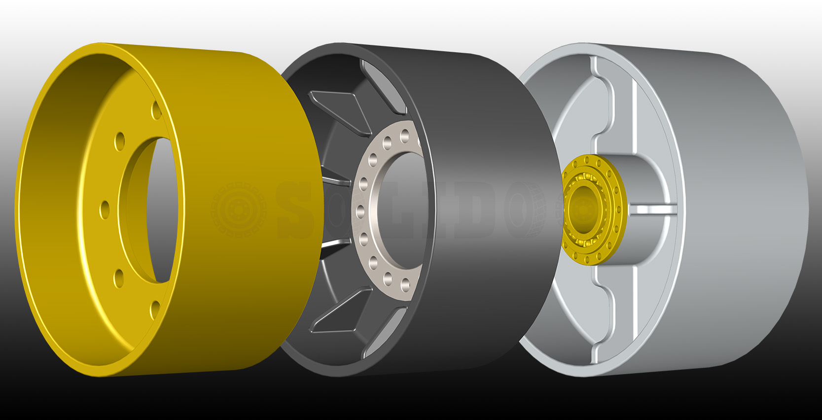 INDUSTRIAL SOLID TYRE hubs